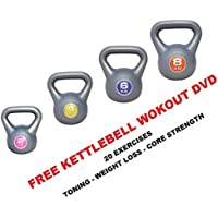 UK Fitness Kettlebell Strength Training Kettlebells 2kg, 4kg, 6kg, 8kg, 10kg, 12kg Weights Home Training Gym