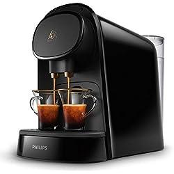 Philips L'OR Barista LM8012/60 - Cafetera de cápsulas compatible con cápsula individual y cápsula doble, 19 bares de presión, 9 variedades de bebida, depósito extraíble 1L, color negro