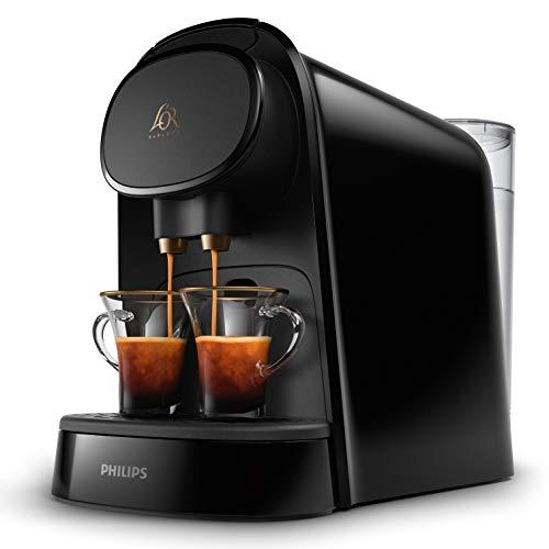 Philips L'OR Barista LM8012/60 - Cafetera compatible con cápsula individual/doble, 19 bares presión, depósito 1L, color negro