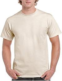 Gildan Ultra T-Shirt, aus Baumwolle Gr. X-Large, Elfenbein - Natural