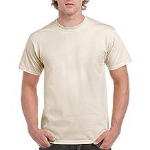 Gildan - Camiseta básica de manga corta de verano para hombre- 61 colores diferentes ? Número 1 en América (Extra Grande (XL)/Carne)
