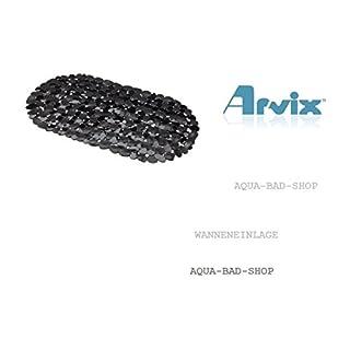 Schöne Badewannenmatte- BADEWANNENEINLAGE- Antirutschmatte STONE OPTIK-Kieseloptik-Steinoptik-Form:OVAL Farbe.schwarz/transparent -ARVIX-NEU -Maße:ca.:67x35cm-LGA Schadstoffrei--NEU 2015