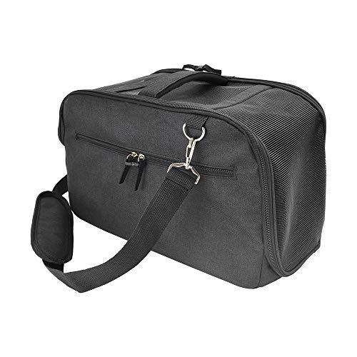 VANYA Transportbox Hund Katze Seitentaschen Puppy Rabbit Travel Hangbag Unter dem Sitz Tresor Mit Autositzgurten verbinden Haustierrucksack -