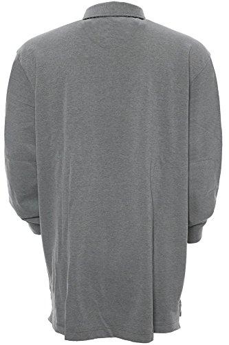 Kitaro Herren Shirt Langarm-Poloshirt Buenos Aires - City Grau