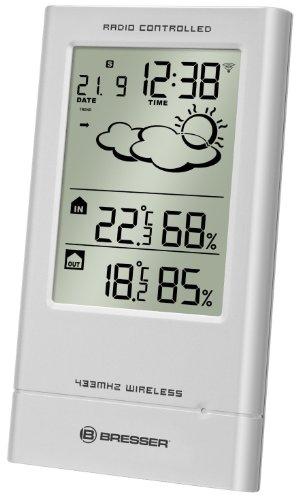 Bresser TempTrend, Stazione metereologica con sensore esterno senza fili e orologio radiocontrollato [Importato da Germania]