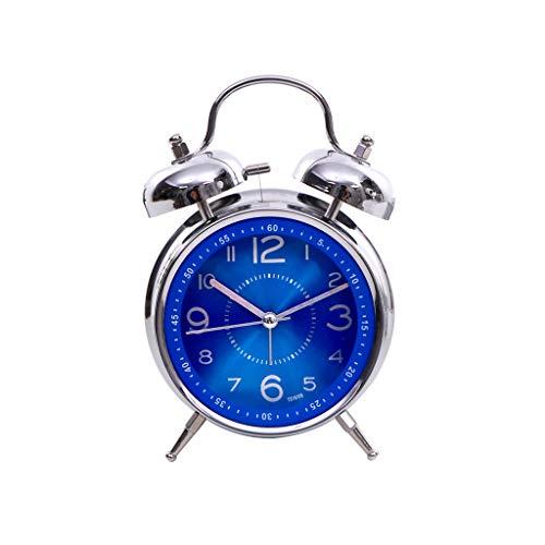 Despertador JXLBB Zafiro Azul Creativo Metal Timbre
