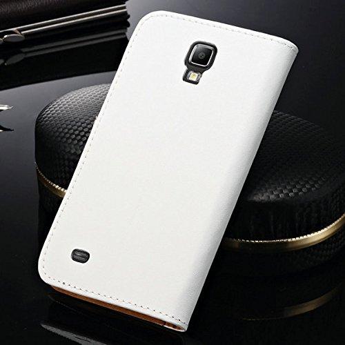 achievess (TM) classique Support Design Étui en cuir véritable pour Samsung Galaxy S4Active i9295livre style Housse en cuir avec fente pour carte