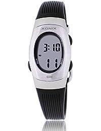Reloj electrónico digital de múltiples funciones de los ni?os,Gelatina 50 m resina resistente al agua alarma cronómetro chicas o chicos peque?os simple moda retro reloj de pulsera-L
