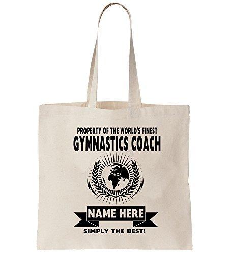 Gymnastik Bus World's Beste Tragetasche Shopper - World Best Turner Akrobat Rhythmische Bus Job Geschenk Arbeit Taschen Shopping Unisex - Neutrale Beige, Single Sided Print