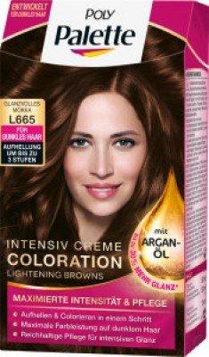Poly Palette Crème Intensive Coloration Argan Huile de N ° L 665 Brillance Volles Moka