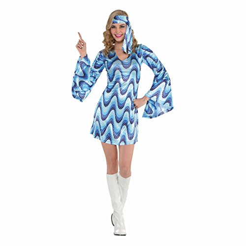 Adult Disco Lady Costume Dress. Sizes 8 to 20
