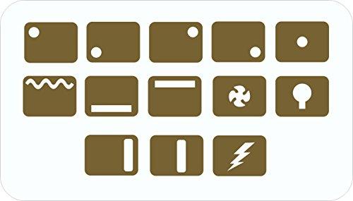 Herd-/Ofen-Symbole Ersatzaufkleber gold -
