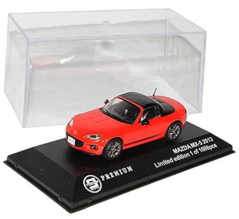 Mazda MX5 NC Rot mit Dach 2005-2015 limitiert 1 von 1008 Triple 9 1/43 Ixo Modell Auto mit individiuellem (Modellauto Mazda Mx 5)