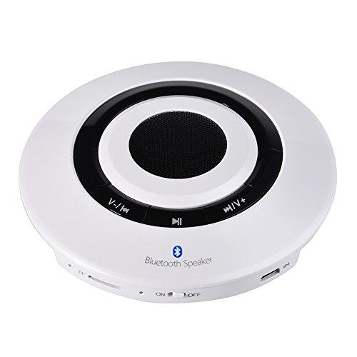 Sincere- Portable Wiederaufladbare Bluetooth Lautsprecher für hörende Musik, freihändige Anrufe 838 (Weiß)