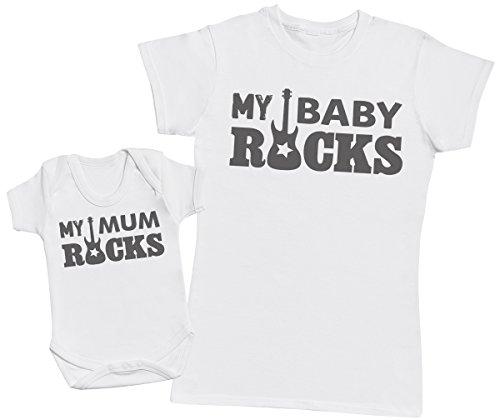 Zarlivia Clothing My Baby Rocks! - Regalo para Madres y bebés en un B