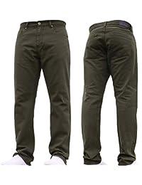 Mens Straight Leg Heavy Duty Work Basic 5 Pocket Plain Denim Jeans Big Tall  Pants All 950bc160af6