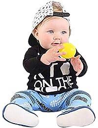 ☀☀Chaquetas Y Abrigos para Bebés Niña,2pcs Toddler Baby Letter Print Top Blusa + Pantalones De Impresión De Dibujos Animados Set Outfit