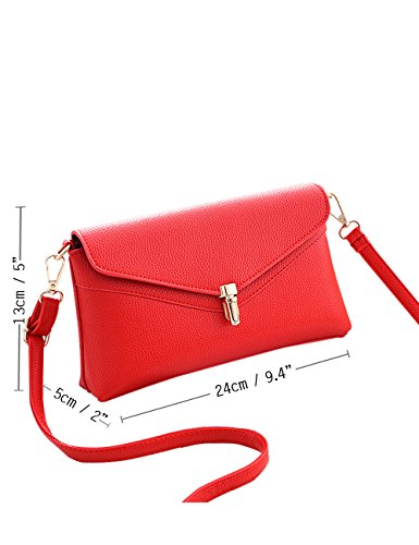 Menschwear Leather Tote Bag lucida PU nuove signore borsa a tracolla Rosso Rosso