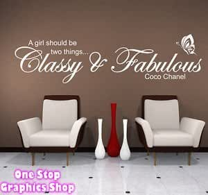 63742390c603 1Stop Graphics - Shop Classy   Fabulous Large Wall Art Quote Sticker ...