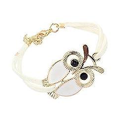 Sorella'z Golden White Owl Bracelet for Girl's