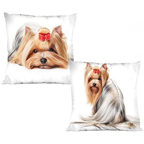 Little Dog Hunde wendbare Dekorative Kissenhülle Kissenbezug Fall Home (Neufundland Kopf)