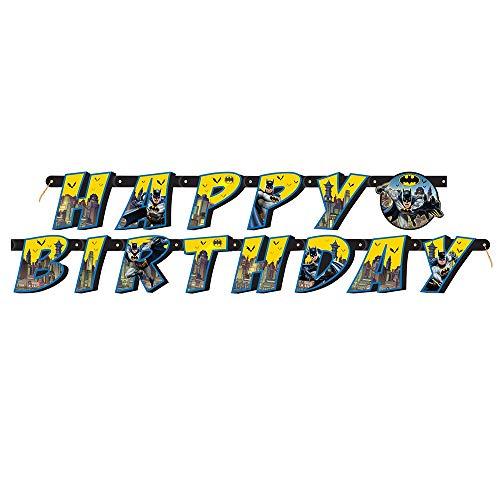 KULTFAKTOR GmbH Batman Girlande Happy Birthday bunt 182 cm Einheitsgröße