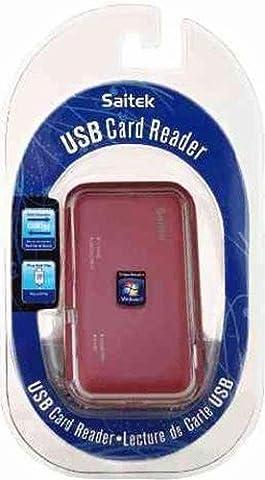 USB Card Reader - Saitek - Kartenlesegerät - Rot [Import