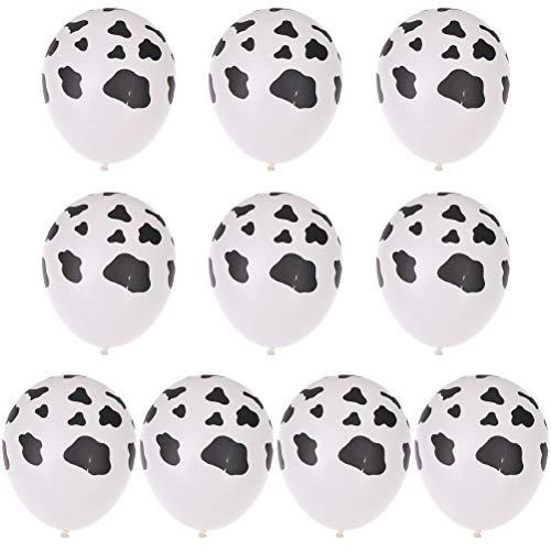 7thLake 10 stücke 12 Zoll Kuh Druck Latex Ballons Für Cowboy Cowgirl Western Party Decor - Supplies Party Cowgirls