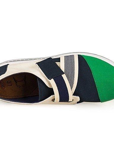 ShangYi Scarpe Donna Di corda Zeppa Plateau/Scarpette da culla Scarpe da ginnastica Ufficio e lavoro/Casual Blu/Verde/Rosso Green