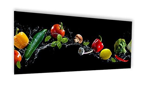 Crédence de cuisine en Verre de synthèse ou fond de hotte de cuisine prêt à poser avec adhésif double face - L. 120 x H. 50 cm - Epaisseur 4 mm \\