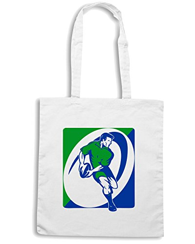 T-Shirtshock - Borsa Shopping TRUG0070 rugby Bianco
