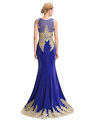 Yafex Women's Cocktail Evening Dress 6 Blue