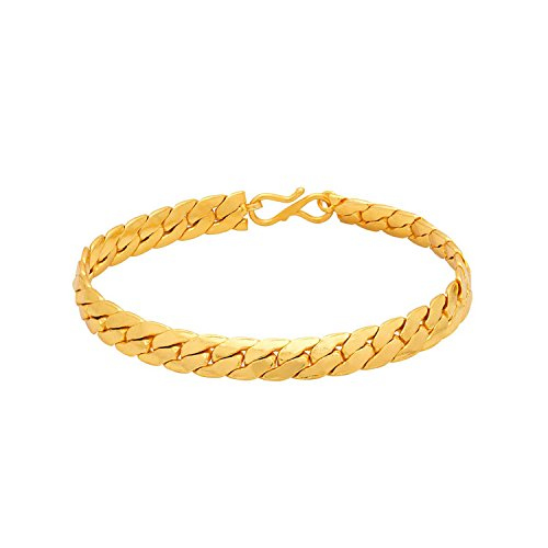 Dare by Voylla Brass with Gold Plated Bracelet for Men