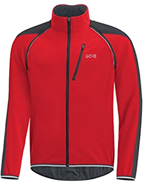Gore Wear C3 Windstopper Phantom Chaqueta Zip-Off, Hombre, Rojo/Negro, XXL