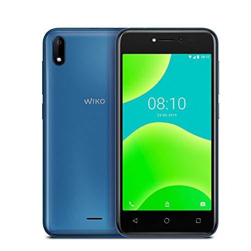 wiko y50 italia smartphone, android 8.1 oreo, display 5 inch, memoria ram 1gb, memoria rom 16 gb, blue