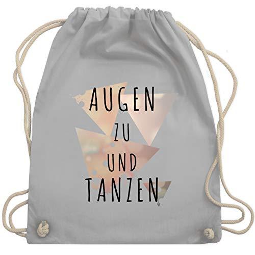 Festival Turnbeutel - Augen zu und tanzen - schwarz - Unisize - Hellgrau - WM110 - Turnbeutel & Gym Bag