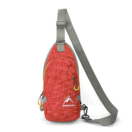 Maleden Rucksack / Schultertasche / Umhängetasche für Damen und Herren, wasserdicht, für Outdoor und Sports, Crossbody, leichtgewichtig, Orange (West Mini Nine)
