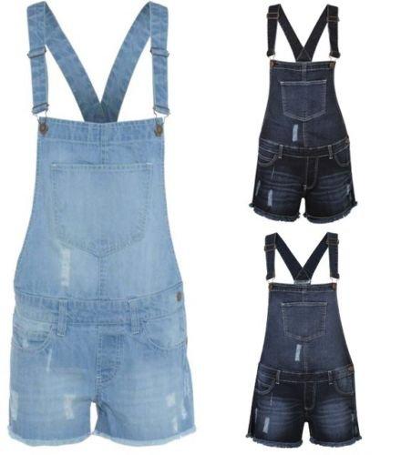 G8ONE Women's Stretch Denim Jeans Ladies Girls Shorts Dress Jumpsuit Playsuit Dungaree
