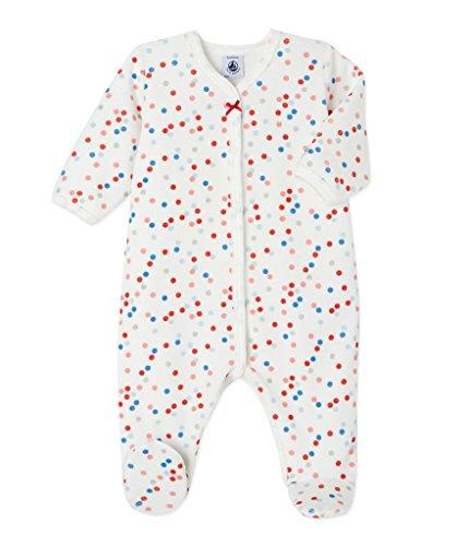 Petit Bateau Baby-Mädchen Schlafstrampler Dors Bien, Mehrfarbig (Lait/Multico 70), 68 (Her Preisvergleich