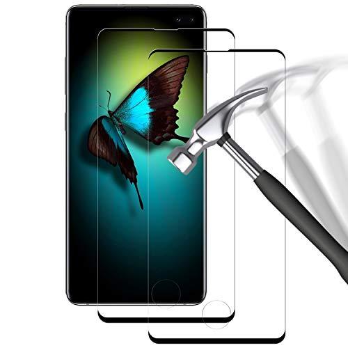 POOPHUNS Pellicola Vetro Temperato Compatibile con Samsung Galaxy S10 Plus,S10 Plus Protezione Schermo 3D Copertura Completa Trasparente Ultra Resistente, Anti-Graffi, Anti-Impronte (2 Pezzi)