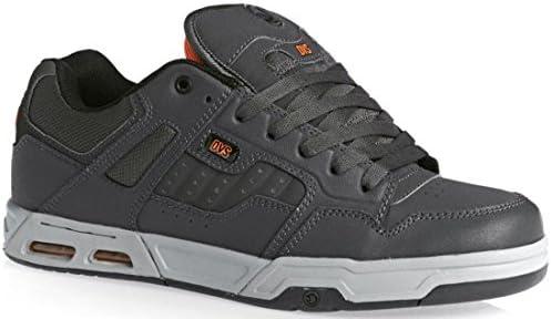 DVS Enduro Heir Cuero Gris Naranja Hombres Skate Trainers Zapatos