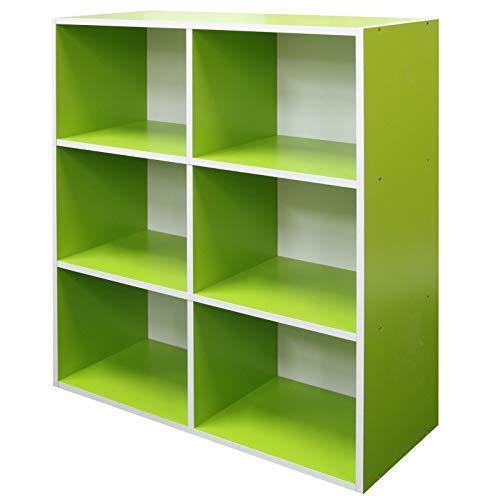 Absolute Deal 3-Tier-Bücherregal Display Ablagen Stauraum, Holz, Grün, 80 x 30 x 90 cm -