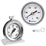 Lantelme 7549 Set 500 Grad Grillthermometer und 300 °C Backofenthermometer mit mechanischer Temperaturanzeige