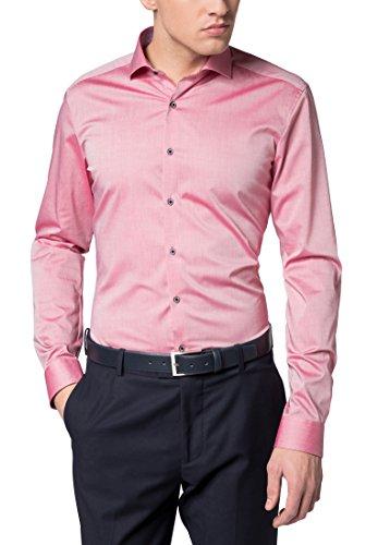 ETERNA long sleeve Shirt SUPER-SLIM Stretch uni Rosso