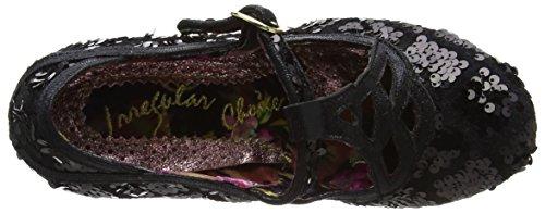 Done Talons Irregular Femme Noir et Chaussures en T Plateforme Choice Lanière à Nicely avec à qEr8WE