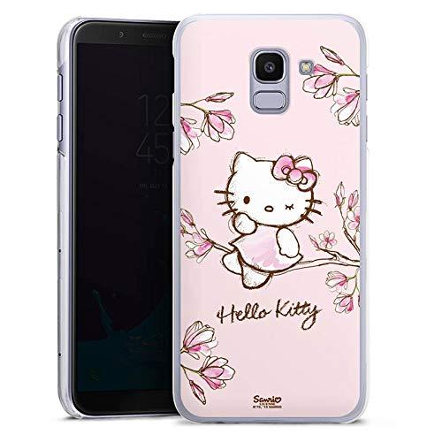 DeinDesign Hülle kompatibel mit Samsung Galaxy J6 Duos 2018 Handyhülle Case Hello Kitty Merchandise Fanartikel Magnolia