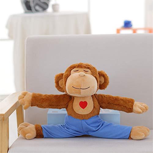 SXPC Lindo Oso de Peluche de Yoga Koala muñeca Mono de Juguete de Regalo Almohada muñeca de la muñeca,Monkey