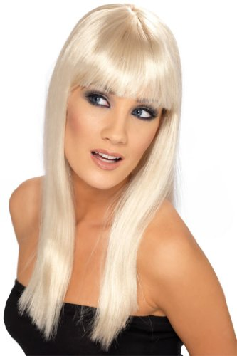 Damenperücke Blond Perücke für Damen blonde lange Haare Langhaar Karneval Fasching ()