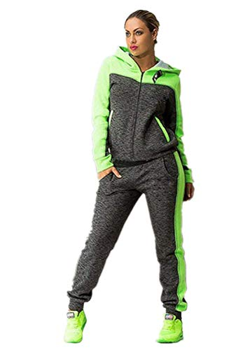 TUDUZ Damen Hausanzug Jogginganzug Jumpsuit Langarm Pullover Sportanzug Trainingsanzug Rundhals Sweatshirt Lang - Klassischen Look Wolle Anzug
