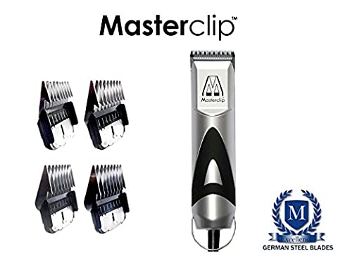 Masterclip Pedigree Pro Professional Dog Clipper Set with 4 Metal Comb Guards